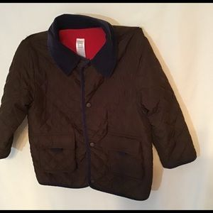 Carter's youth quilted brown winter coat